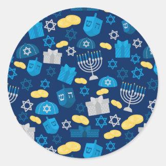 Adesivo Redondo Hanukkah temático