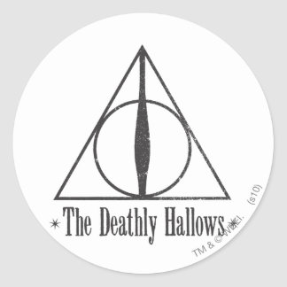 Adesivo Redondo Harry Potter | o Deathly Hallows o emblema