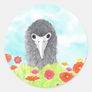 Adesivo Redondo Haulani o pintinho do albatroz