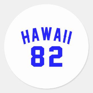 Adesivo Redondo Havaí 82 designs do aniversário
