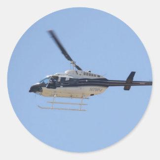 Adesivo Redondo Helicóptero
