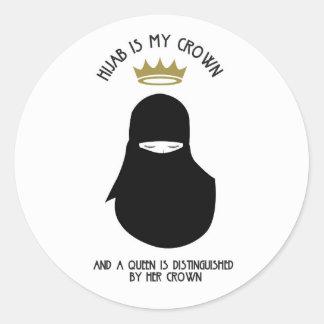 Adesivo Redondo Hijab é minha coroa - NIQAB