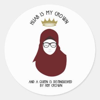 Adesivo Redondo Hijab é minha coroa - VIDROS
