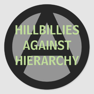Adesivo Redondo hillbillies contra a hierarquia
