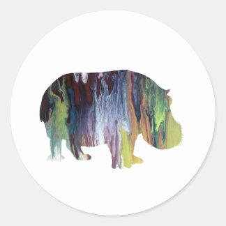 Adesivo Redondo Hippopotamus
