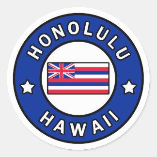 Adesivo Redondo Honolulu Havaí