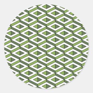 Adesivo Redondo hortaliças e couve da geometria 3d