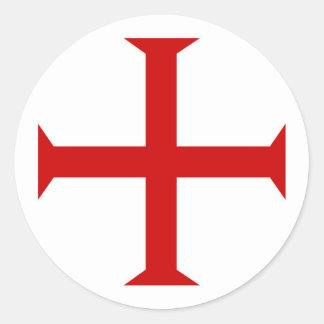 Adesivo Redondo hospitall teutonic templar de malta da cruz