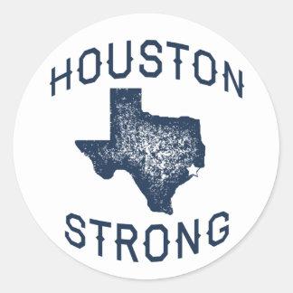Adesivo Redondo Houston forte - alivio da inundação de Harvey