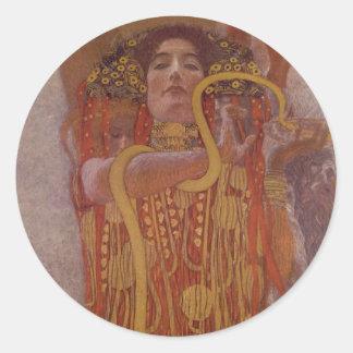 Adesivo Redondo Hygeia por Gustavo Klimt
