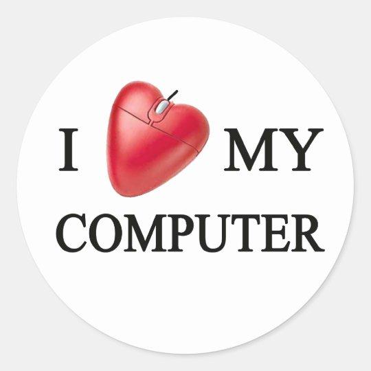 ADESIVO REDONDO I LOVE MY COMPUTER