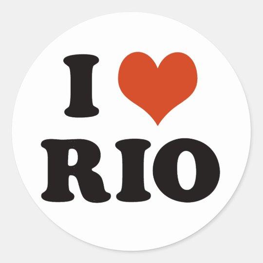 Adesivo Redondo I love rio de janeiro