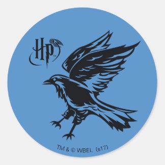 Adesivo Redondo Ícone de Harry Potter | Ravenclaw Eagle