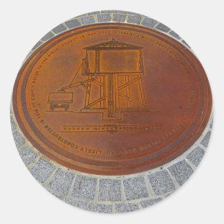 Adesivo Redondo Ícones de Folsom: Cobrir de câmara de visita