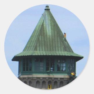 Adesivo Redondo Ícones de Folsom: Torre de guarda de prisão da via
