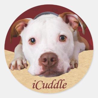 Adesivo Redondo iCuddle Pitbull