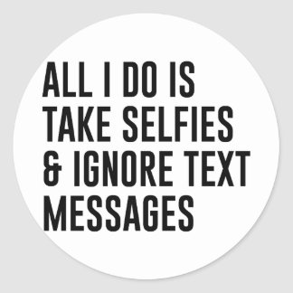 Adesivo Redondo Ignore textos