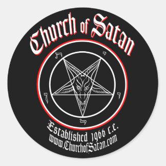 Adesivo Redondo Igreja do grupo do decalque da satã
