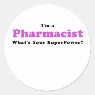 Adesivo Redondo Im um farmacêutico o que é sua superpotência