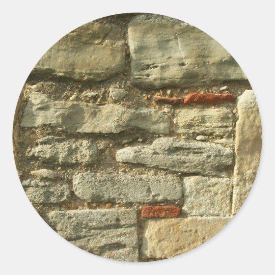 Adesivo Redondo Imagem da parede de pedra