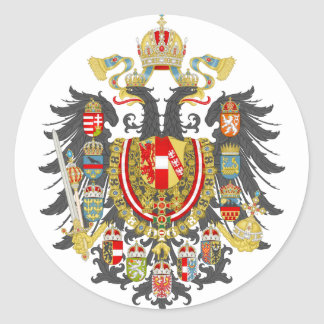 Adesivo Redondo Império de Áustria Hungria