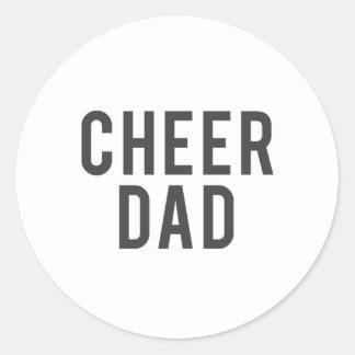Adesivo Redondo Impressão agradável do pai do elogio