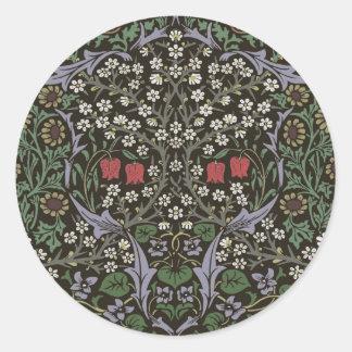 Adesivo Redondo Impressão da arte da tapeçaria da ameixoeira-brava