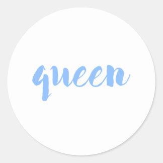 Adesivo Redondo Impressão da rainha