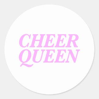Adesivo Redondo Impressão da rainha do elogio
