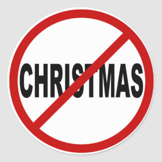 Adesivo Redondo Indicação permitida Natal do sinal do ódio