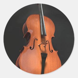 Adesivo Redondo Instrumento amarrado cordas da madeira do