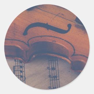 Adesivo Redondo Instrumento musical clássico de instrumento de