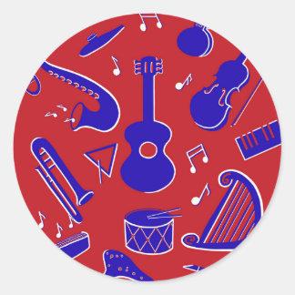 Adesivo Redondo Instrumentos musicais