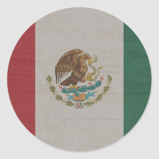 Adesivo Redondo International da bandeira de México
