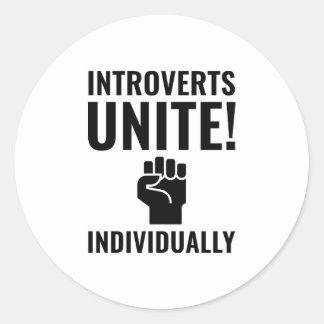 Adesivo Redondo Introverts unem-se