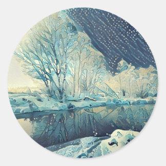 Adesivo Redondo Inverno