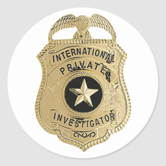 Adesivo Redondo Investigador privado internacional