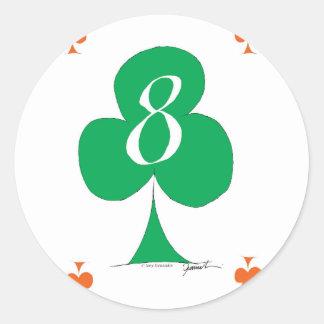 Adesivo Redondo Irlandês afortunado 8 dos clubes, fernandes tony