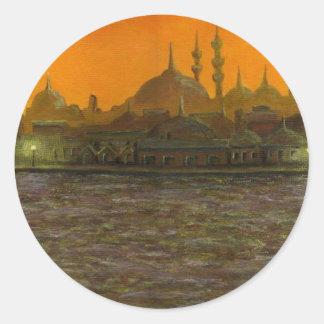 Adesivo Redondo Istambul Türkiye/Turquia