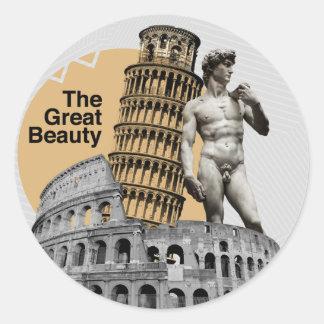Adesivo Redondo Italia, a grande beleza
