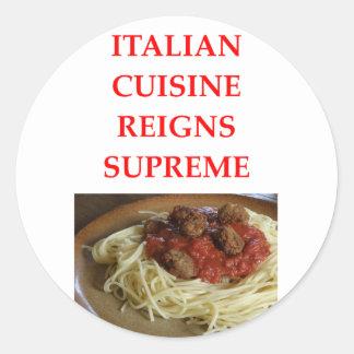 Adesivo Redondo italiano