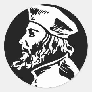 Adesivo Redondo Jan Hus