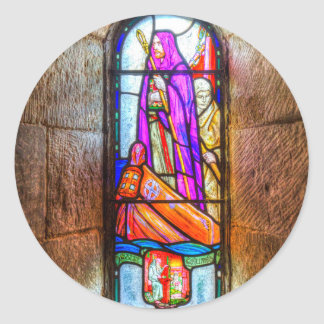Adesivo Redondo Janela de vitral da capela