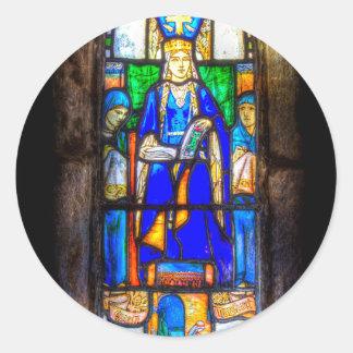 Adesivo Redondo Janela de vitral Edimburgo