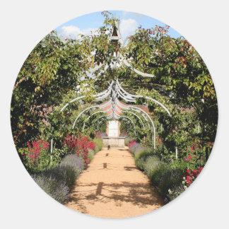 Adesivo Redondo Jardim inglês velho