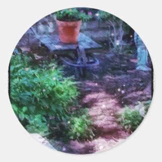 Adesivo Redondo Jardim secreto