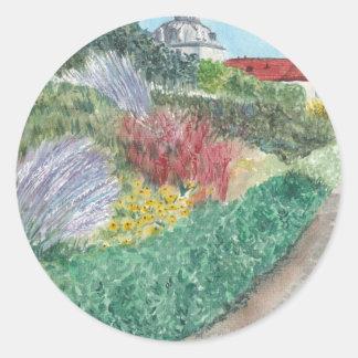 Adesivo Redondo Jardins em Schloss Köpenick
