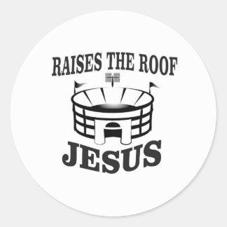 Adesivo Redondo Jesus aumenta o telhado yeah
