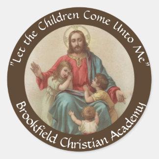 Adesivo Redondo Jesus com cristão Homeschool das crianças