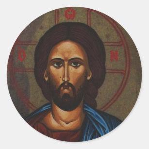 Adesivo Redondo JESUS CRISTO ortodoxo grego bizantino do ícone
